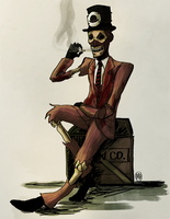 A Spooky Gentleman by monkette