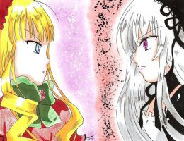 Shinku vs. Suigintou by Pai-San