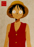One Piece: Luffy's face by Irchiel