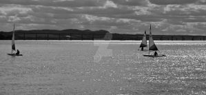Sailing on the River I by DundeePhotographics