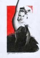 Black Swan Drawing 4 by AngelinaBenedetti