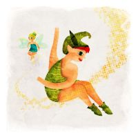 Peter Pan and Tinker Bell by Chiba-Wolf