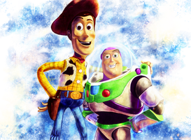 Toy Story - Woody and Buzz by p1xer