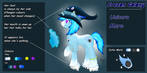 (Selling) My old Pony OC Frozen Galaxy (Adoptable) by CKittyKat98