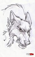 Wolf Ink Test by Sandora