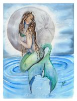 Moon Light Mermaid   -color- by bluedragonstudio