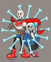 Skeleton Brothers by TinySkye