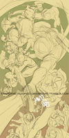 Hyrule Warriors sketch by HeavyMetalHanzo