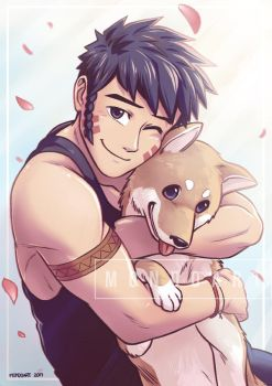 Leif and doge by MondoArt