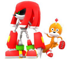 Metal Knuckles and Tails doll Render by NIBROCrock