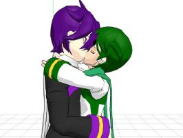 MMD: Taito X Nigaito kiss Yaoi by Free-Beloved-Army