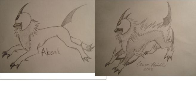 Absol And My Imagined Evolution by Lunasaraka
