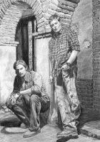 Sam and Dean 2009 by lupinemagic
