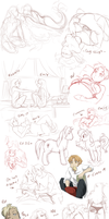 MEGA Sketchdump 1 by Bitter-Cherry