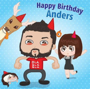 HBD! Anders! by FabiiKawaii