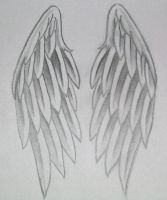 Angel Wings Tattoo by dvampyrelestat