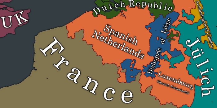 Spanish Netherlands Map by ObscuriumMaps