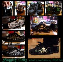 Flogging Molly logo sneakers by Vikrapuff