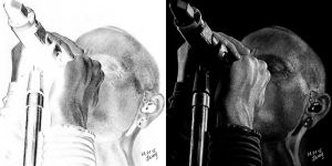inverted drawing of Chester by ShineLP
