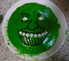 GreenSwampWarrior cake by Gloriaus