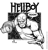 Hellboy -June '12 Daily Art Jam- Day 19 by JeremiahLambertArt