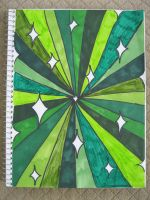 Green Sparkly Tunnel Thing! by theartisticnerd