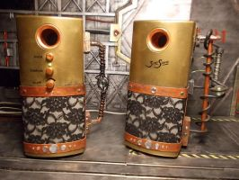 Steampunk Speakers by PGwainbenn