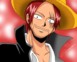 Red Haired Shanks by Hikari-15-L