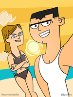 Jo and Brick Summer Selfie by DJgames