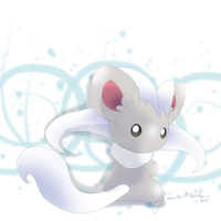 573 Pokemon White Cinccino by WeisseEdelweiss