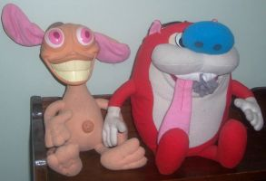 Ren and Stimpy Plush by ChipmunkRaccoon2