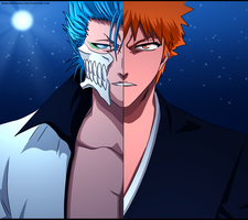 Grimmjow vs Ichigo by Mishinama-san