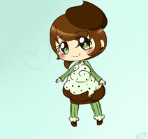 Mint Choco-chip Cupcake adoptable SOLD by Cherryberrybonbon