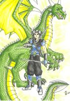 Gale and Dragon Form by DragonGirl-Lucky-13