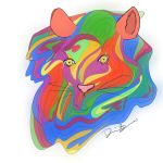 Colorful Lion by DakodaSky