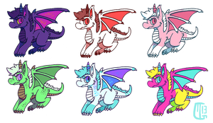 (CLOSED) Dragon Point/Paypal Adopts by Kaweki