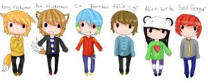 All mah OCs~ by flashsteps