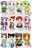 Chinese Zodiac Adopts 50 POINTS(OPEN) by Abis-Adoptables