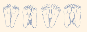 The human female paw - Exercise I by TheHunter1338