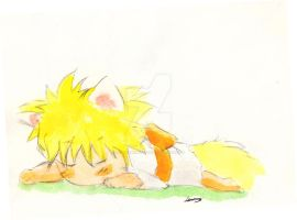 CBNK Young Naruto Sleeping by FrostyNightSky