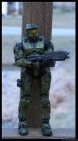 Master Chief Taking Cover by jlel