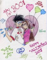 DxA-Valentine's Day love by WickedGhoul