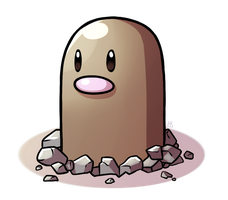 Pokeddexy Challenge Day 11 - Diglett! by IncreasinglyCoherent
