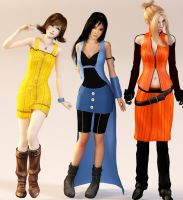 Final Fantasy VIII - Girls by XkairiSakura