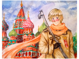 Russia and Saint Basil's Cathedral by SnowyAvis