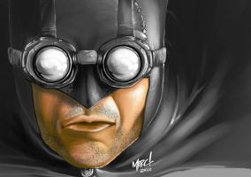 Steampunk Batman:WIP by RogueSamurai