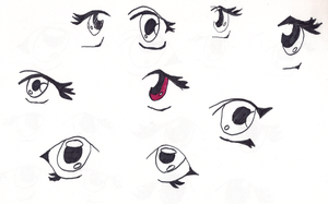 Working on eyes - 2 by Gahouly