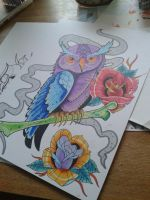 Tweet twoo coloured. by mnemonic30