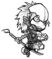 Chibi - Raiden by ElectroCereal