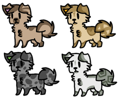 Puppy Adoptables Five |Open| by LeveButt